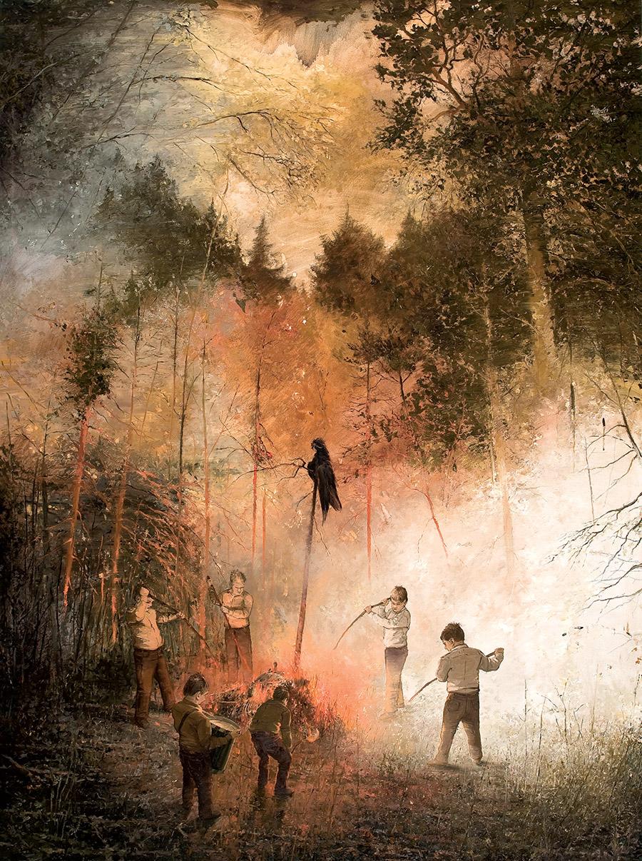 Lord Of The Rings Tarot The Hermit By Sceithailm On: Jarmo Mäkilä